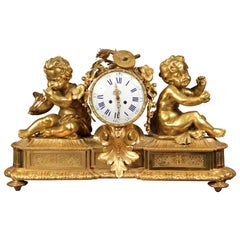 Very Fine Late 19th Century Gilt Bronze Mantle Clock