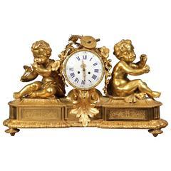 Very Fine Late 19th Century Gilt Bronze Mantle Clock