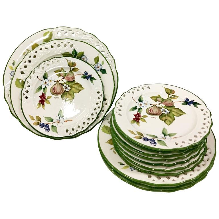 Vintage  Tiffany  Ceramic Dinnerware by Brunelli ...  sc 1 st  1stDibs & Vintage