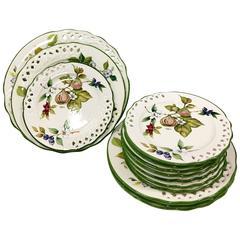 "Vintage ""Tiffany"" Ceramic Dinnerware by, Brunelli, Italy S/12"