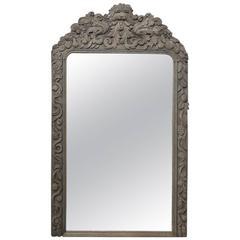 19th Century Flemish Renaissance Carved Wood Mirror