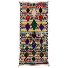 Vintage Moroccan Kilim with Modern Tribal Style and High-Low Pile