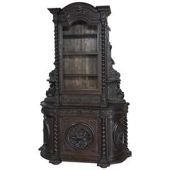 19th Century Renaissance Hunt Bookcase