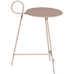 "Ludovica+Roberto Palomba Driade ""Carmina"" Small Round Coffee Table in Aluminum"