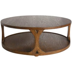 Dos Gallos Custom Round Oak Coffee Table