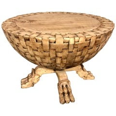 Dos Gallos Custom Basket Weave Coffee or Side Table