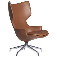 """""""Lou Speak"""" Leather or Fabric Mirror Finished Armchair by P. Starck for Driade"""
