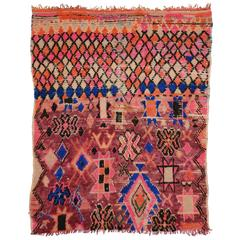 Vintage Berber Moroccan Rug with Modern Tribal Style in Hot Pink