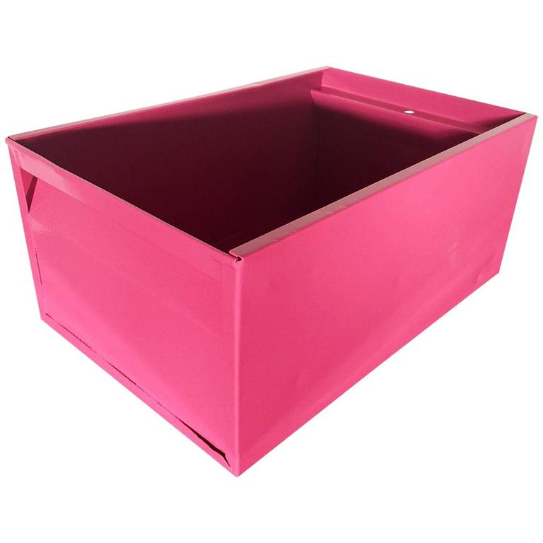 1940s Industrial Storage Bin, Refinished in Pink
