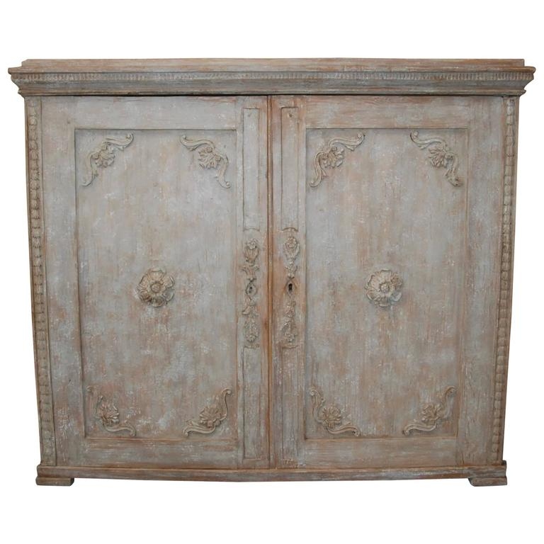 19th Century Swedish Carved Sideboard For Sale