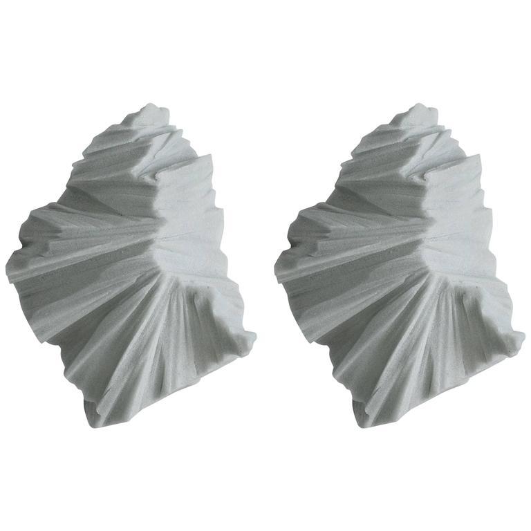 Thaw Sconces, Powdered Glass by Fernando Mastrangelo For Sale