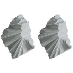Thaw Sconces, Powdered Glass by Fernando Mastrangelo