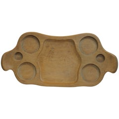 Mary Wright Frosted Oak Serving/Hostess Tray
