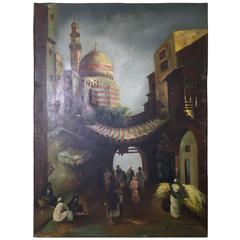 Vintage Orientalist Oil Painting