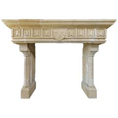 French Castle Fireplace mantel
