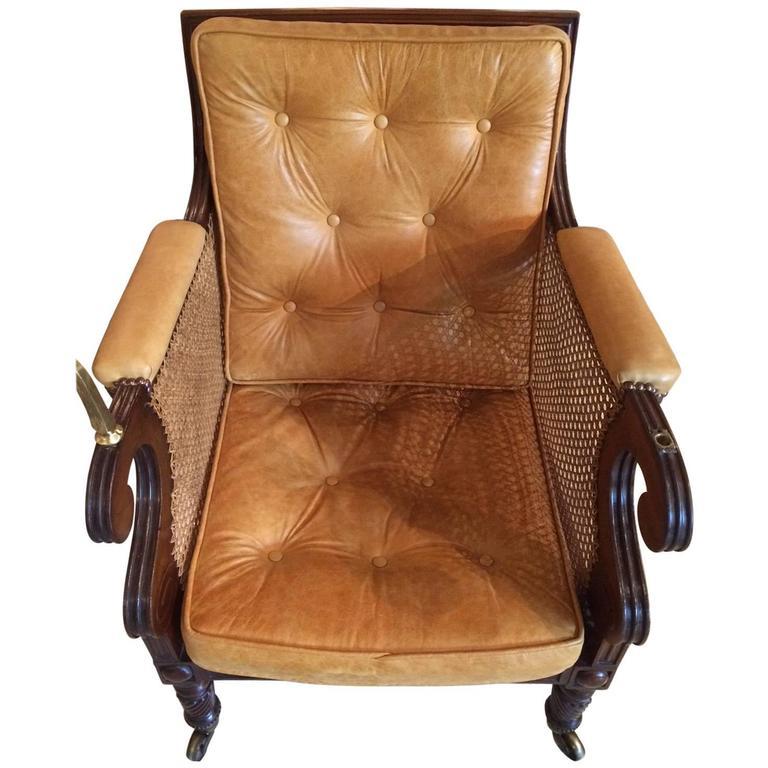 Stunning Regency Period Mahogany Bergere Chair
