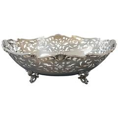 20th Century Sterling Silver Pierced Centrepiece