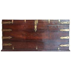 Exceptional Rosewood Military Trunk