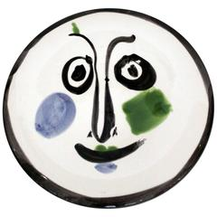 Ceramic Plate 'Visage n.197' by Pablo Picasso, Numbered 347/500