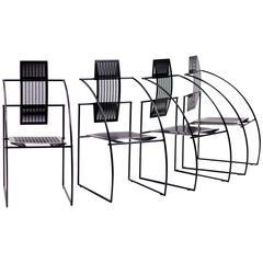 Set of Four Quinta Chairs, Mario Botta for Alias