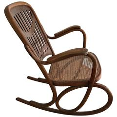 Thonet bentwood  Rocking Chair Nr 71 Jugendstill Collectors Item