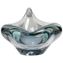 Scandinavian Modern Aqua Blue Flamingo Bowl by Per Lutken