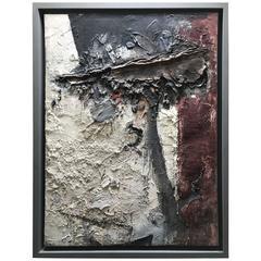 "Bram Bogart ""Contraste 2""    175x135cm  "" 1957 "" Cobra Oil and Mixed m on canvas"