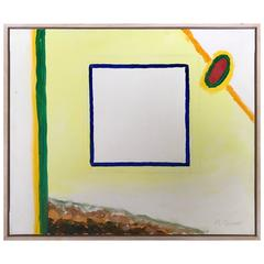 "Roger Raveel ""Mister Mondriaan"" Title 2002 Oil on Canvas"