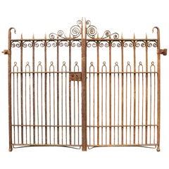 Antique Pair of Wrought Iron Pedestrian Gates