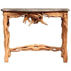 Italian Mid 20th Century Naturalistic Console Table