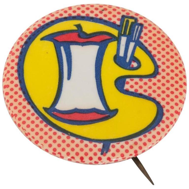 1960s Roy Lichtenstein Designed Pop Art Pin for C.O.R.E.