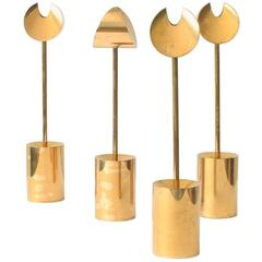 Pierre Forsell Brass Candleholders