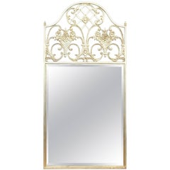 Contemporary Mirror with Silver Metal Frame