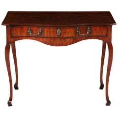 18th Century Serpentine George III Chippendale Mahogany Side Table