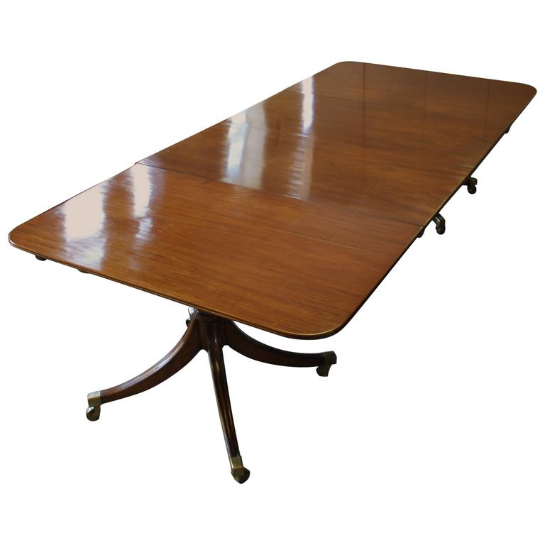 Regency Period Mahogany Twin-Pedestal Dining Table