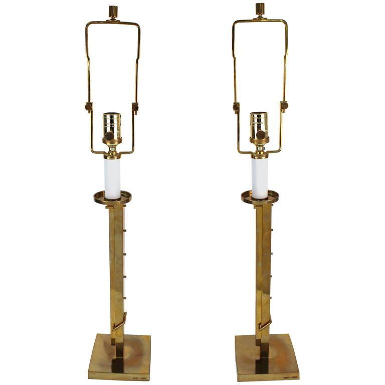 Pair of ralph lauren polished brass table lamps for sale at 1stdibs pair of ralph lauren polished brass table lamps for sale aloadofball Image collections
