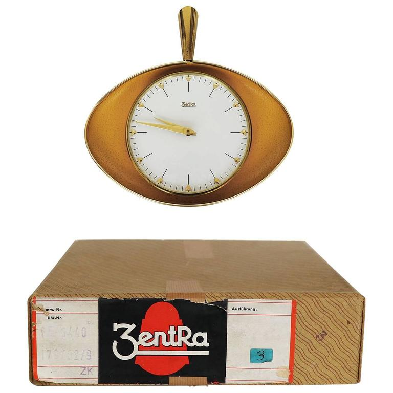 Mechanical Wall Clock by Zentra, Germany, 1950s
