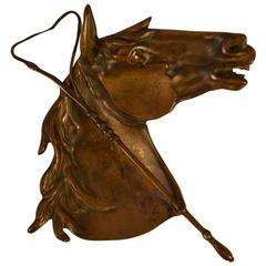 Bronze Horse Head and Riding Crop Dish