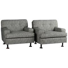 """Pair of """"Square"""" Chairs by Marco Zanuso for Airflex"""