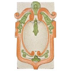 Antique Painted Cartouche