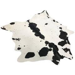 Black and White Speckled Brazilian Cowhide Rug