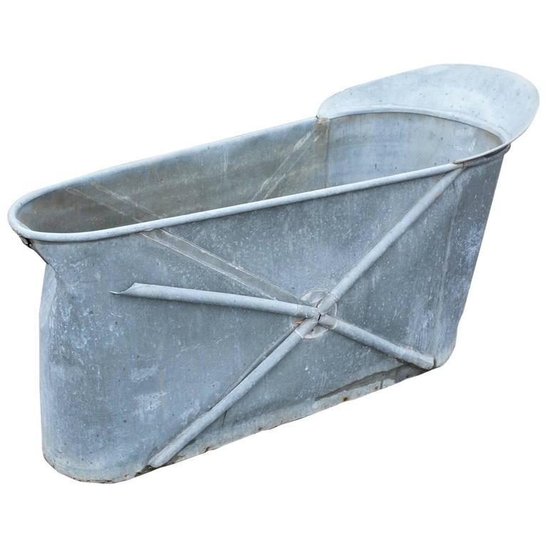 Antique French Zinc Bathtub