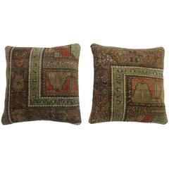 Pair of Turkish Rug Pillows