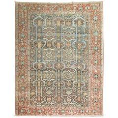 Antique Heriz Decorative Rug, Northwest Persia