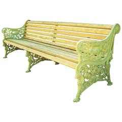 Monumental 19th Century Cast Iron Squirrel Garden Bench / Seat