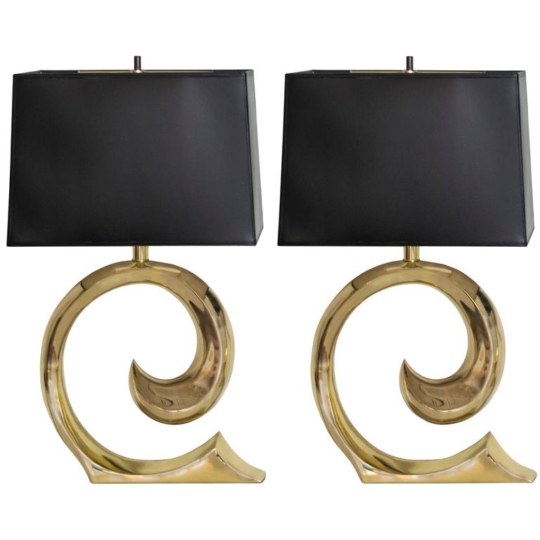 Pierre Cardin Iconic Sculptural Pair of Lamps For Sale