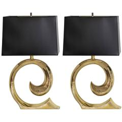 Pierre Cardin Iconic Sculptural Pair of Lamps
