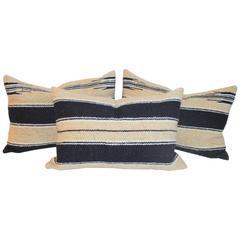 Group of Three Navajo Indian Weaving Saddle Blanket Pillows