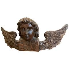 18th Century Hand-Carved Angel Architectural element