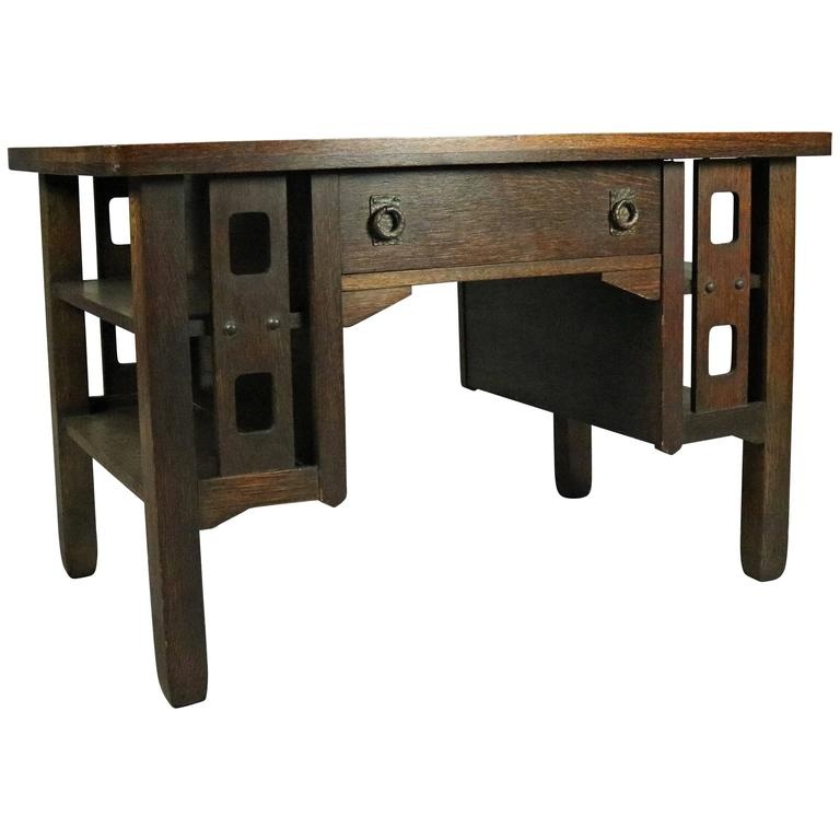 Arts And Crafts Library Table Antique Mission